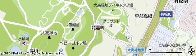 愛知県名古屋市緑区大高町(琵琶岬)周辺の地図