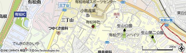 有松神社周辺の地図