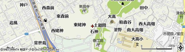 愛知県名古屋市緑区大高町(東姥神)周辺の地図