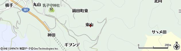 愛知県豊田市鍋田町(東山)周辺の地図
