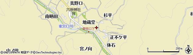 愛知県豊田市坂上町(地蔵堂)周辺の地図