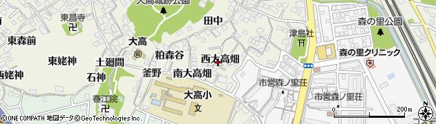 愛知県名古屋市緑区大高町(西大高畑)周辺の地図