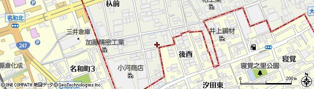 愛知県名古屋市緑区大高町(三番割)周辺の地図