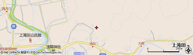 千葉県南房総市上滝田周辺の地図