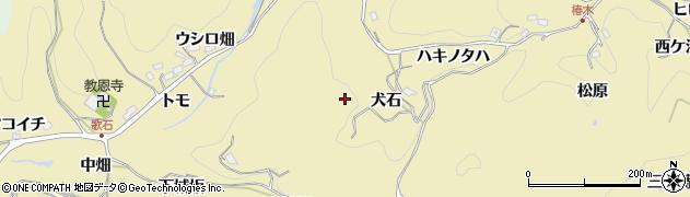 愛知県豊田市豊松町(犬石)周辺の地図