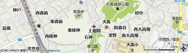 愛知県名古屋市緑区大高町(土廻間)周辺の地図