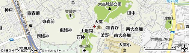 愛知県名古屋市緑区大高町(向山)周辺の地図