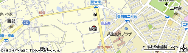 愛知県豊明市間米町純堀周辺の地図