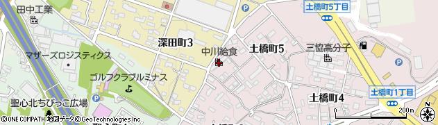 中川給食株式会社 ご注文・お問合せ用周辺の地図