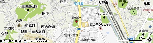 津島社周辺の地図