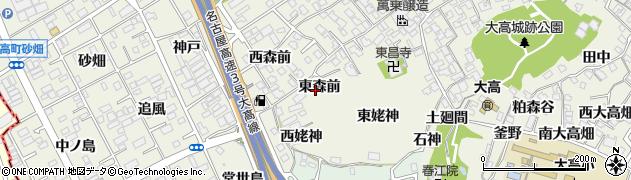 愛知県名古屋市緑区大高町(東森前)周辺の地図