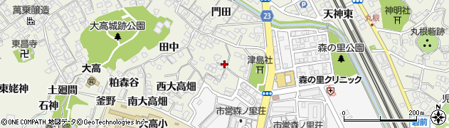 愛知県名古屋市緑区大高町(北大高畑)周辺の地図