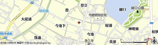 愛知県みよし市明知町(豊)周辺の地図