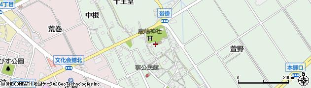 愛知県豊明市沓掛町(宿)周辺の地図