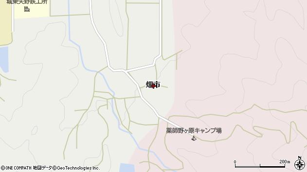 〒669-2413 兵庫県丹波篠山市畑市の地図
