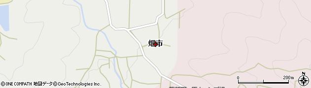 兵庫県丹波篠山市畑市周辺の地図