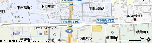 豊田下市場食堂周辺の地図