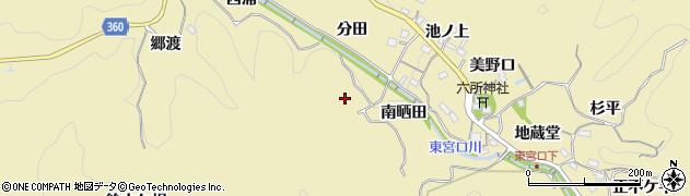 愛知県豊田市坂上町(長ケ入)周辺の地図