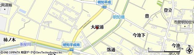 愛知県みよし市明知町(大堤浦)周辺の地図