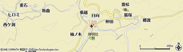 愛知県豊田市豊松町(仲田)周辺の地図