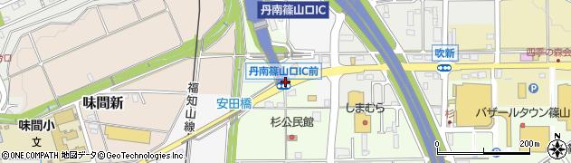 丹南篠山口IC前周辺の地図