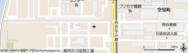 愛知県名古屋市港区空見町周辺の地図