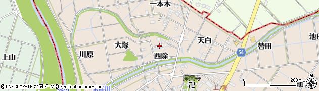 愛知県刈谷市井ケ谷町(西除)周辺の地図