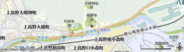 京都府京都市左京区上高野水車町周辺の地図