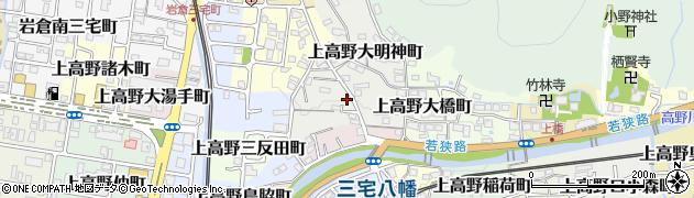 京都府京都市左京区上高野小野町周辺の地図