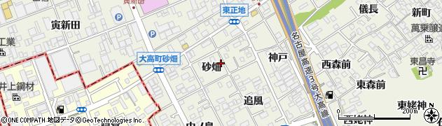 愛知県名古屋市緑区大高町(砂畑)周辺の地図