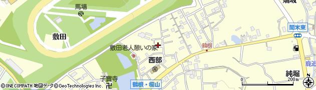 愛知県豊明市間米町(鶴根)周辺の地図