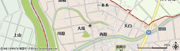 愛知県刈谷市井ケ谷町(大塚)周辺の地図