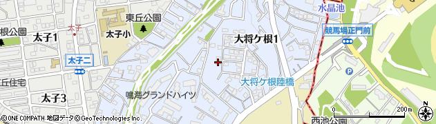 愛知県名古屋市緑区大将ケ根周辺の地図