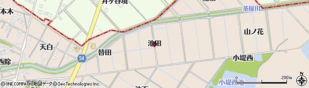 愛知県刈谷市井ケ谷町(池田)周辺の地図