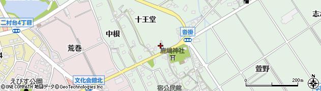 愛知県豊明市沓掛町(森浦)周辺の地図