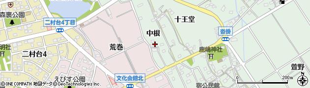 愛知県豊明市沓掛町(中根)周辺の地図