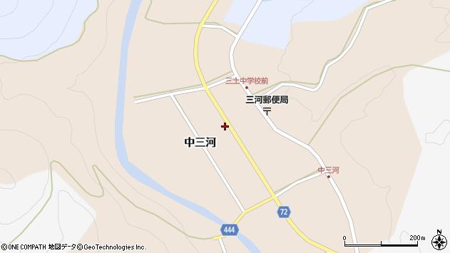 〒679-5224 兵庫県佐用郡佐用町中三河の地図