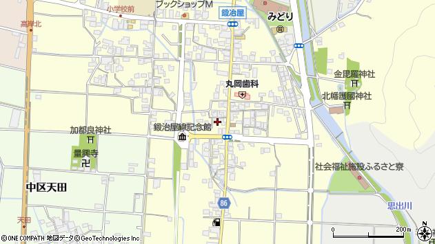 〒679-1111 兵庫県多可郡多可町中区鍛冶屋の地図