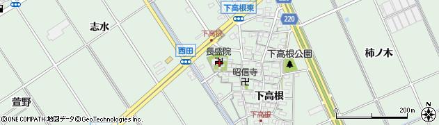 長盛院周辺の地図