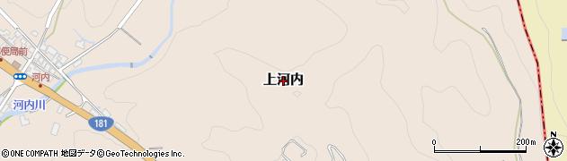 岡山県真庭市上河内周辺の地図