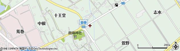 愛知県豊明市沓掛町(萱野)周辺の地図