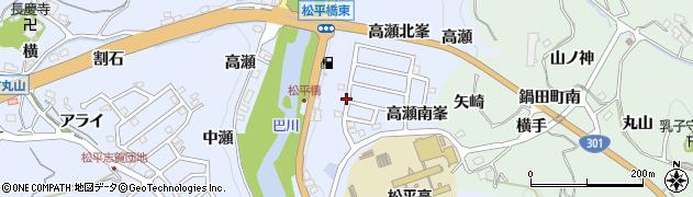 愛知県豊田市鵜ケ瀬町(渡瀬)周辺の地図