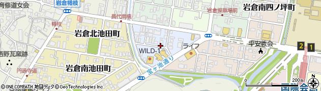 京都府京都市左京区岩倉西五田町周辺の地図