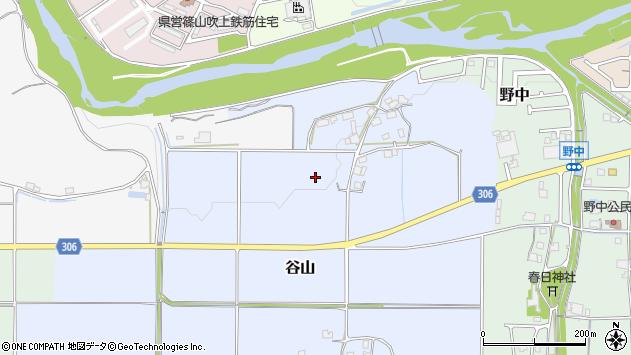 〒669-2453 兵庫県丹波篠山市谷山の地図
