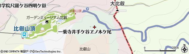 京都府京都市左京区一乗寺井手ケ谷ヱノ木ケ尾周辺の地図