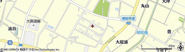 愛知県みよし市明知町(平成)周辺の地図