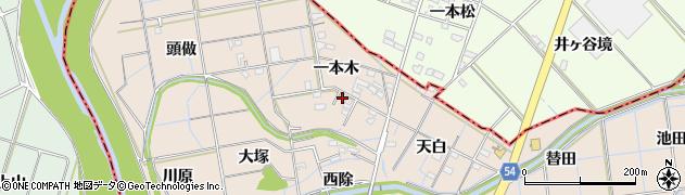 愛知県刈谷市井ケ谷町(一本木)周辺の地図