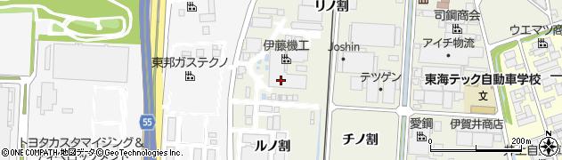 愛知県東海市南柴田町(ヌノ割)周辺の地図