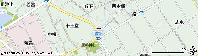 愛知県豊明市沓掛町(垣ノ内)周辺の地図
