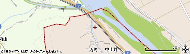 京都府亀岡市千代川町川関(中土井)周辺の地図